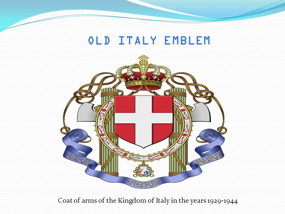 OLD ITALY EMBLEM Coat of arms of the Kingdom of Italy in the years 1929-1944