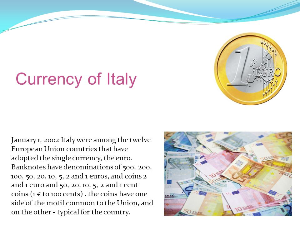 Currency of Italy