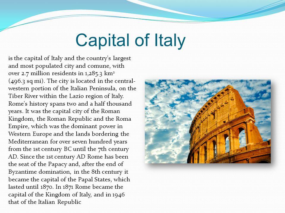 Capital of Italy