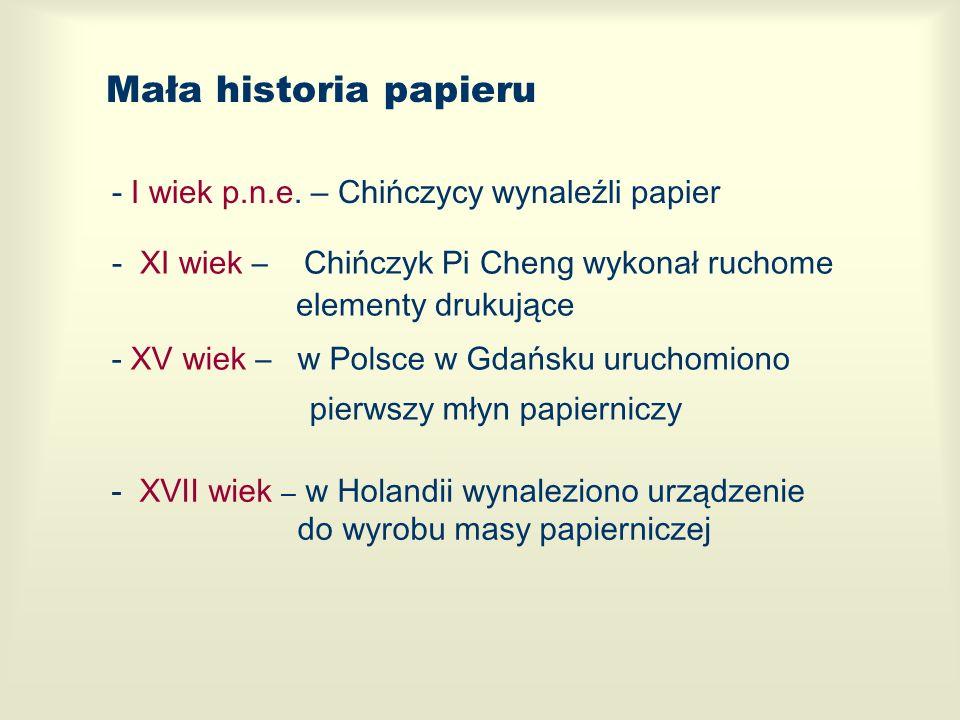 Mała historia papieru - I wiek p.n.e. – Chińczycy wynaleźli papier