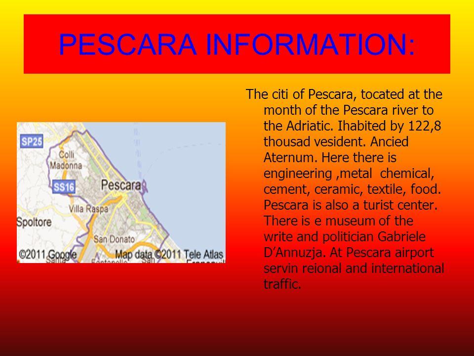 PESCARA INFORMATION: