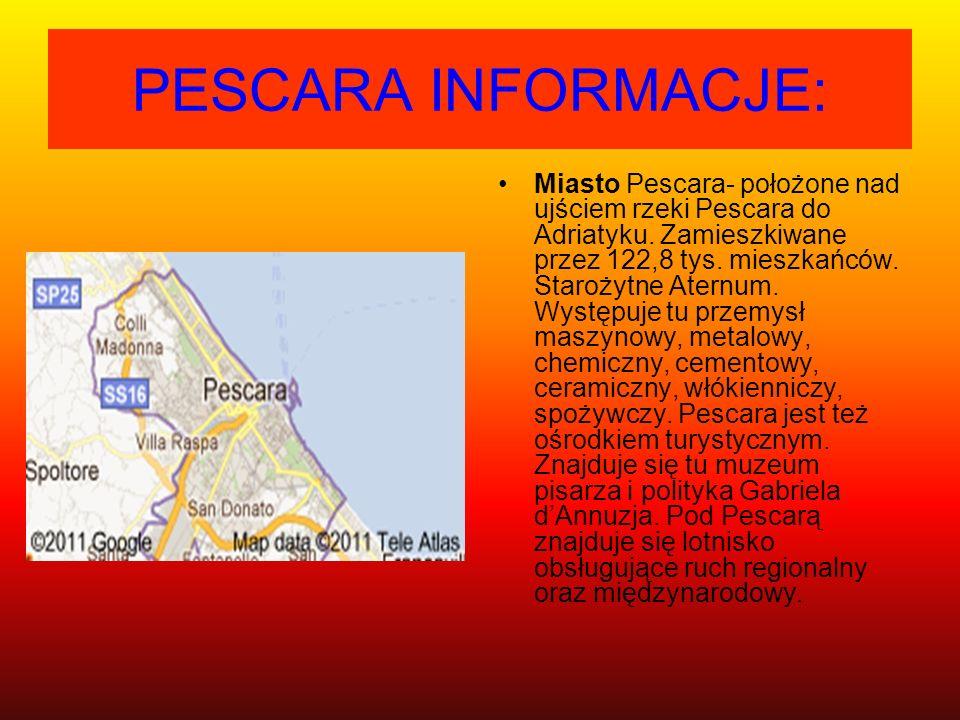 PESCARA INFORMACJE:
