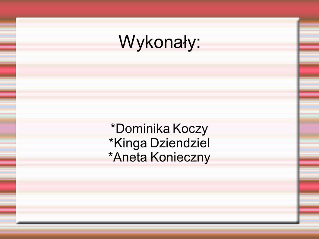 *Dominika Koczy *Kinga Dziendziel *Aneta Konieczny