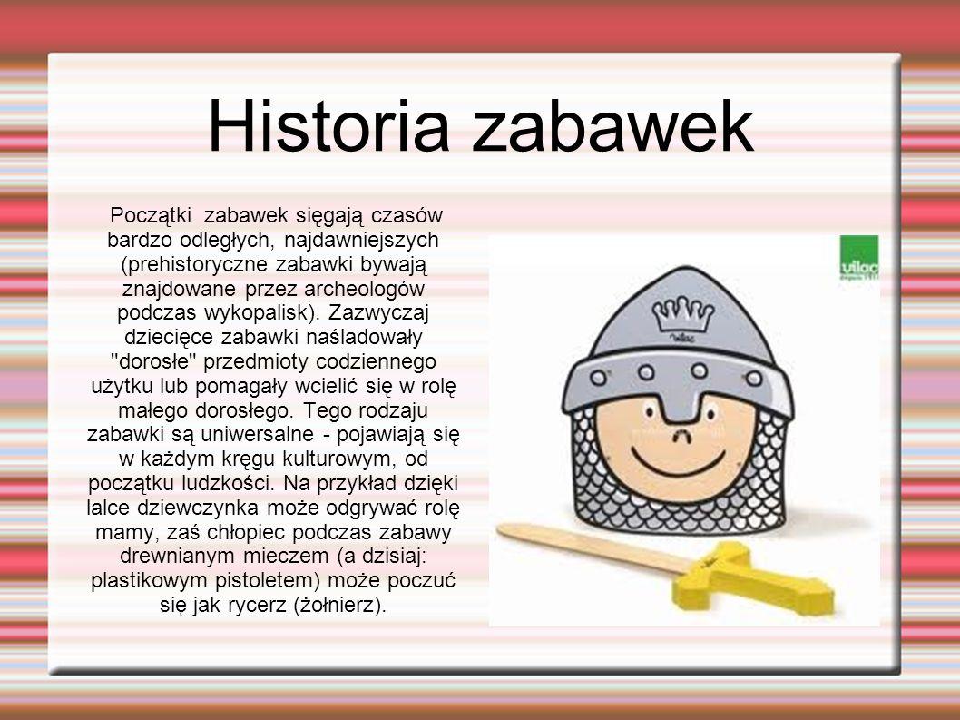 Historia zabawek
