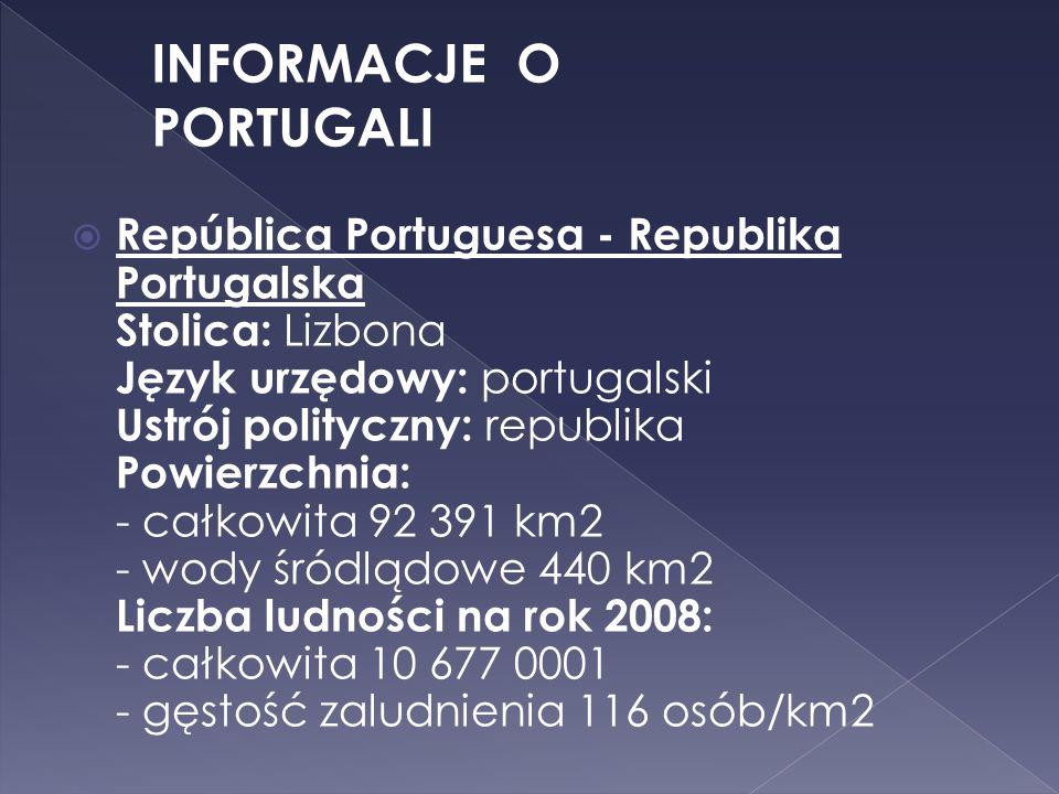 INFORMACJE O PORTUGALI