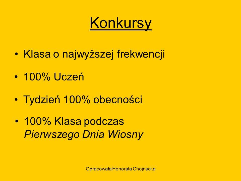 Opracowała Honorata Chojnacka