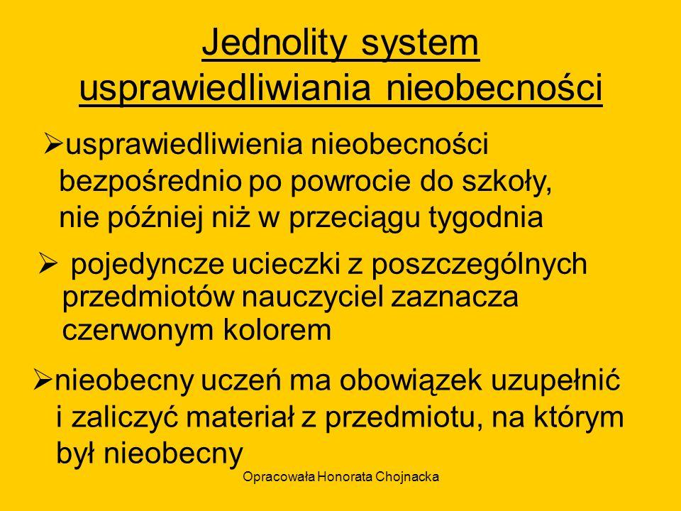 Jednolity system usprawiedliwiania nieobecności