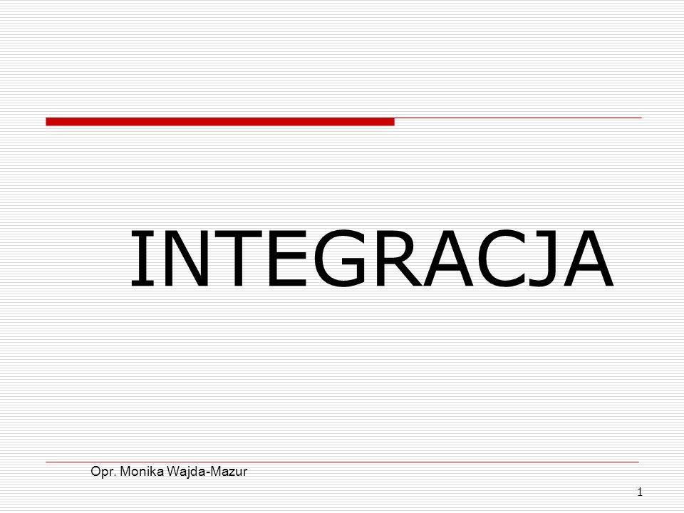 INTEGRACJA Opr. Monika Wajda-Mazur