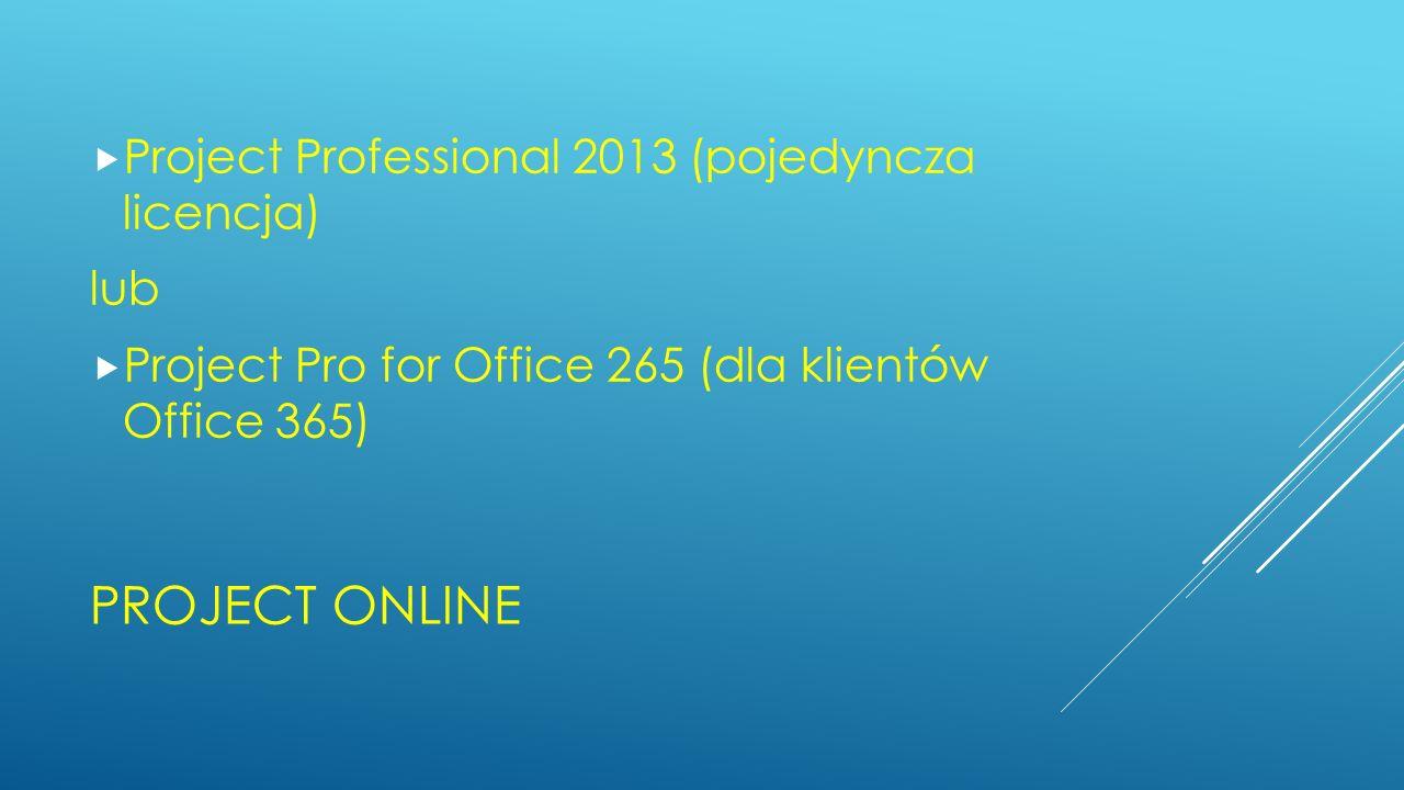 Project Online Project Professional 2013 (pojedyncza licencja) lub