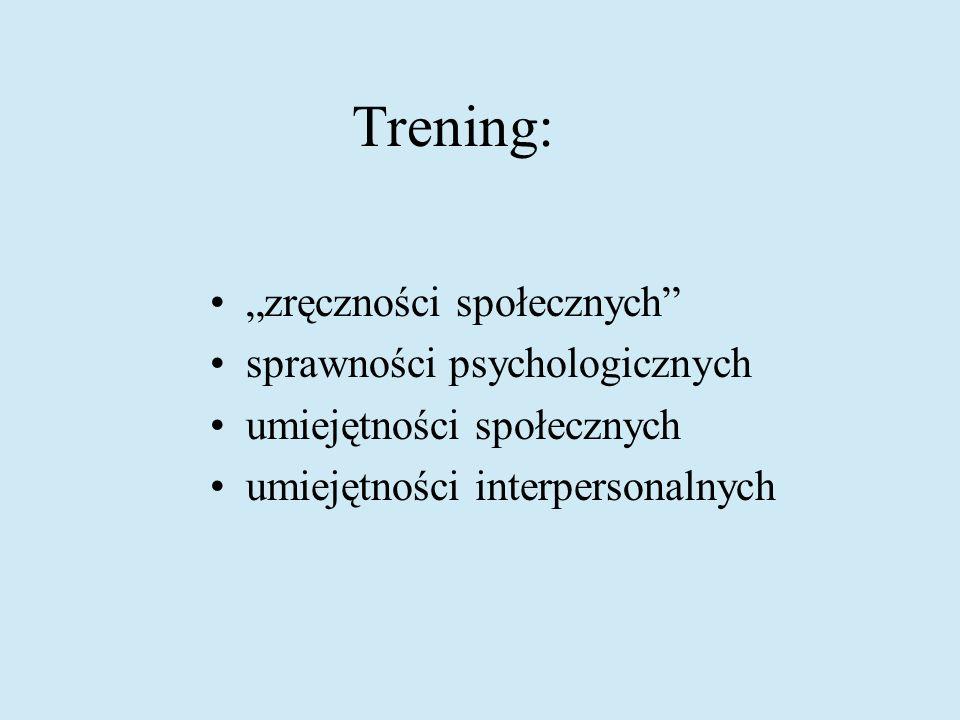 """Trening: """"zręczności społecznych sprawności psychologicznych"""