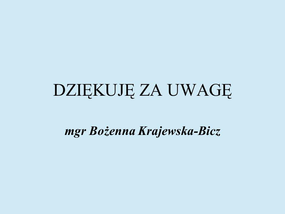 mgr Bożenna Krajewska-Bicz