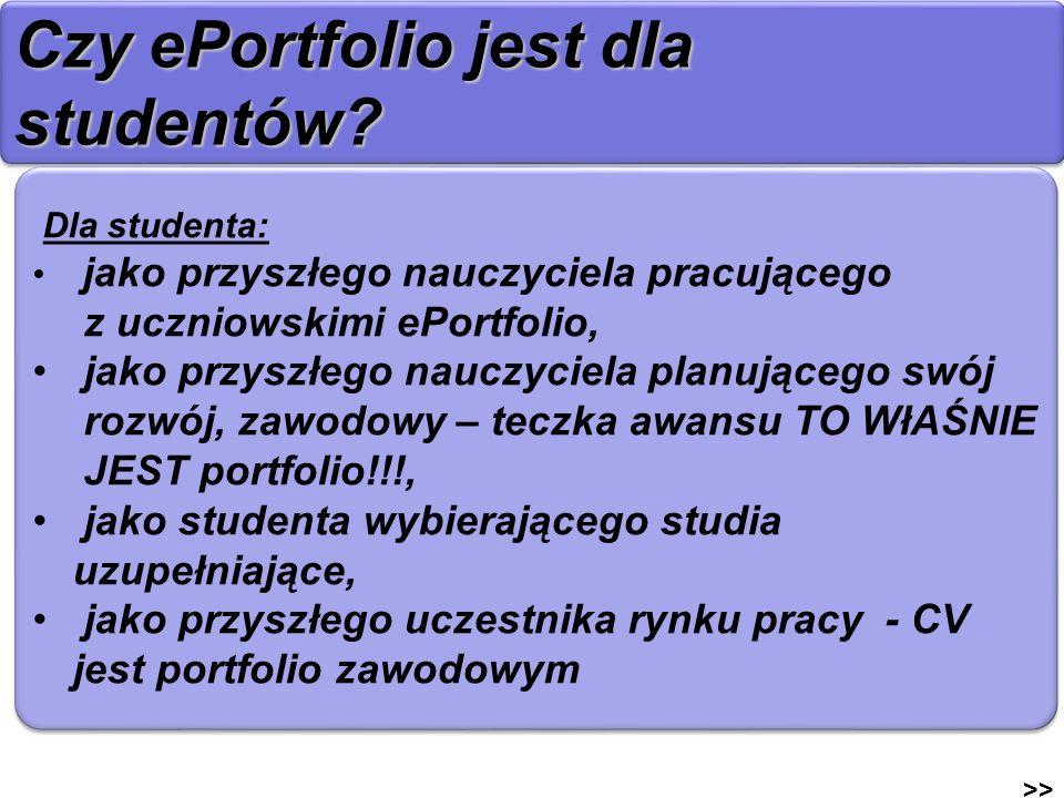 Czy ePortfolio jest dla studentów