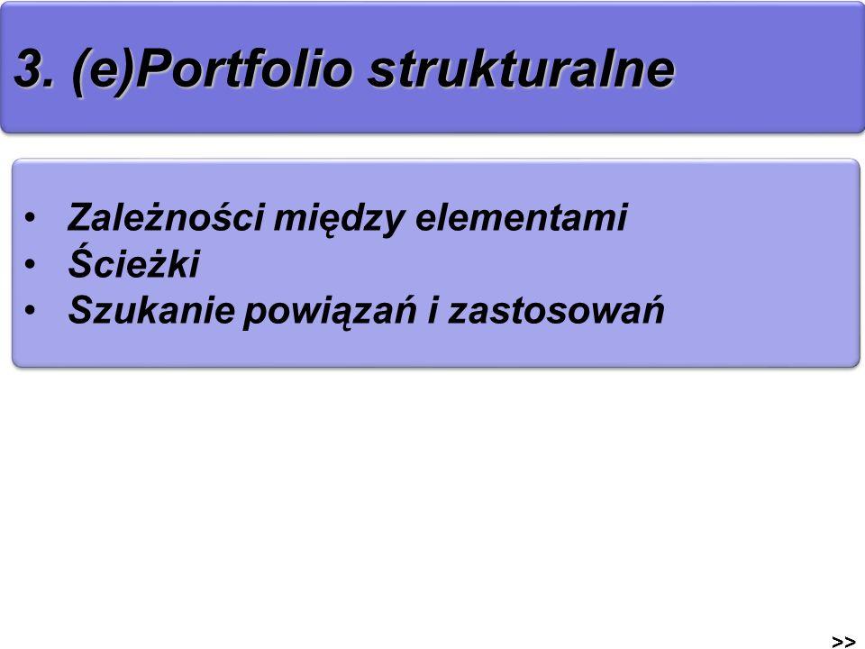 3. (e)Portfolio strukturalne
