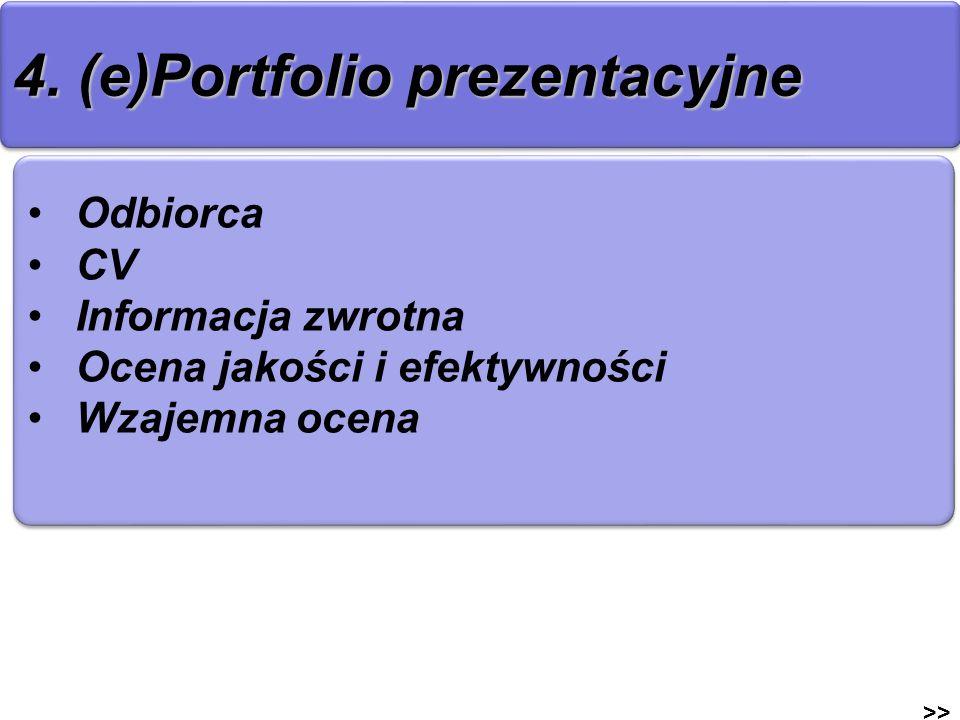 4. (e)Portfolio prezentacyjne