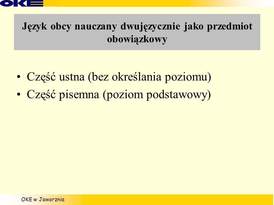 Język obcy nauczany dwujęzycznie jako przedmiot obowiązkowy