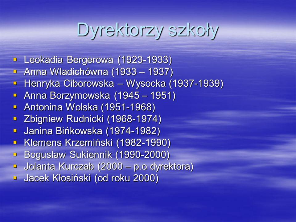 Dyrektorzy szkoły Leokadia Bergerowa (1923-1933)