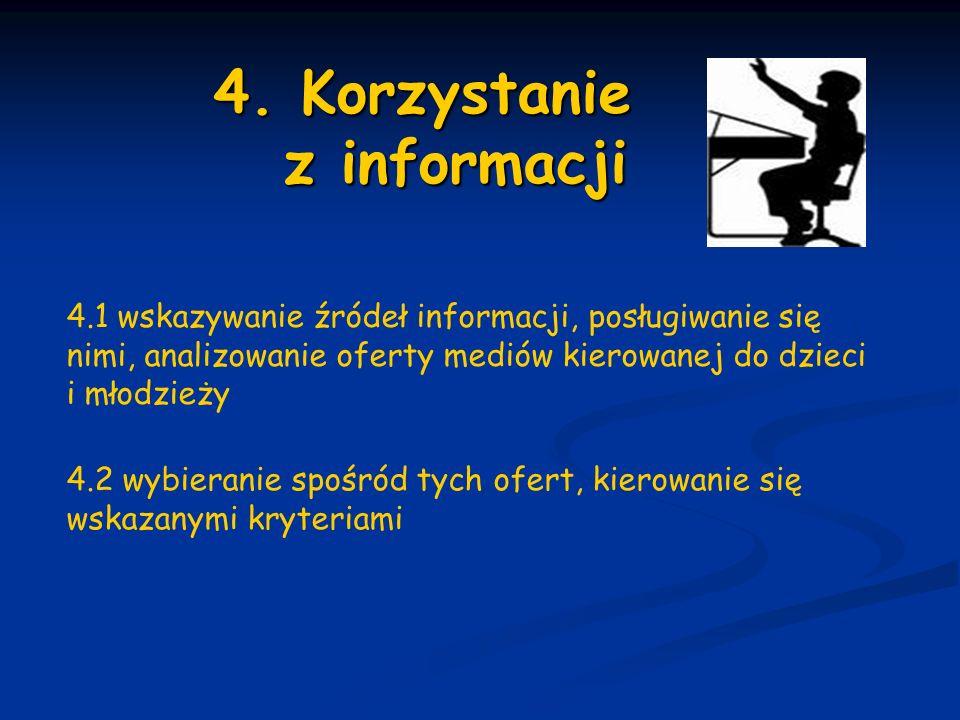 4. Korzystanie z informacji