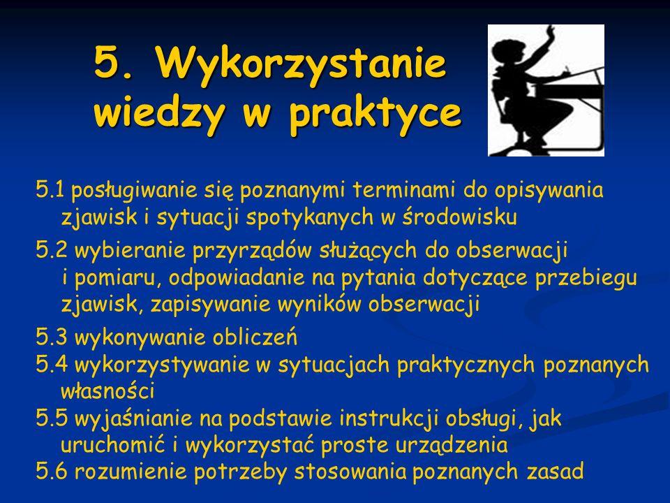 5. Wykorzystanie wiedzy w praktyce