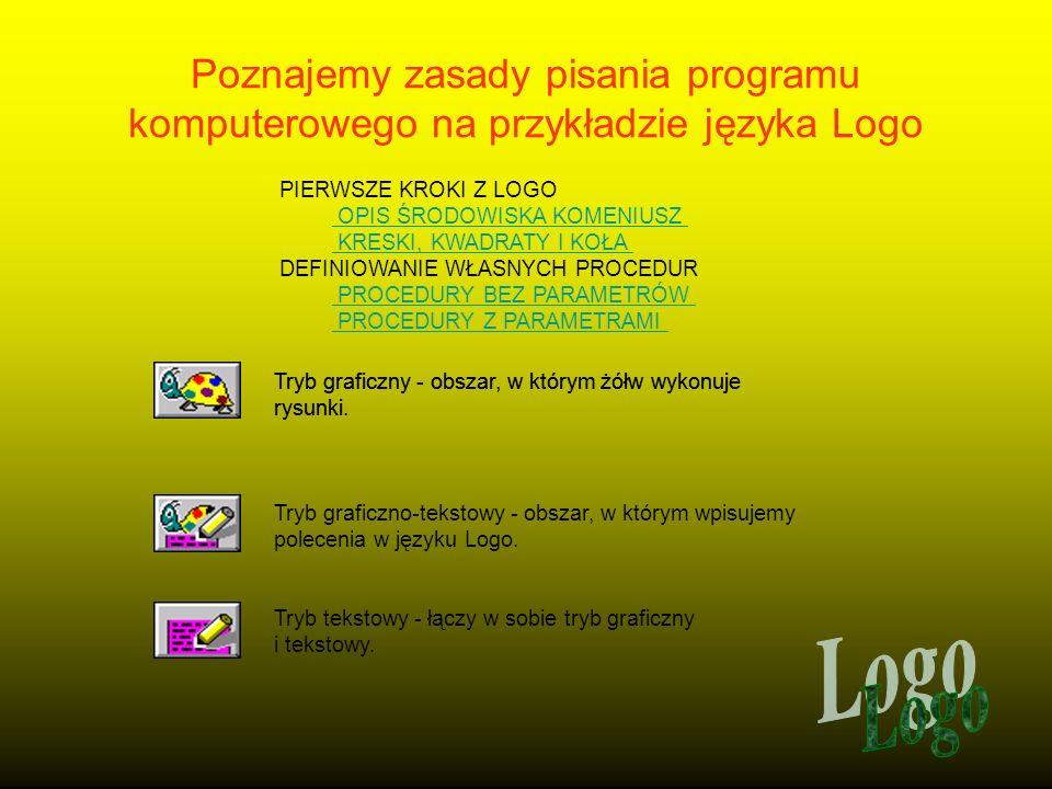 Poznajemy zasady pisania programu komputerowego na przykładzie języka Logo