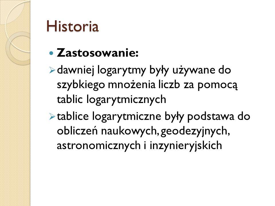 Historia Zastosowanie:
