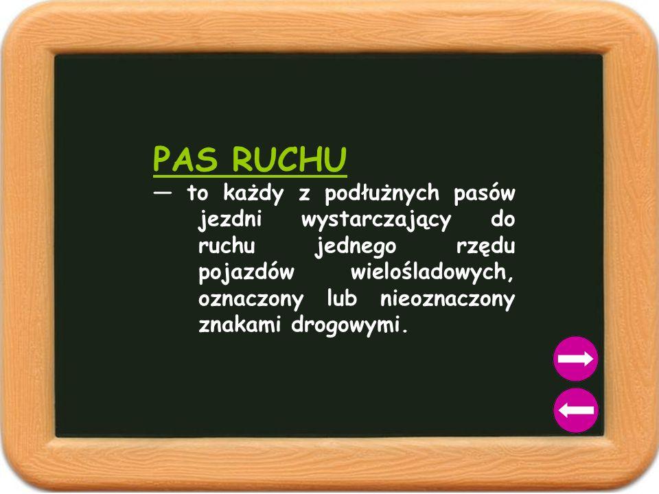 PAS RUCHU