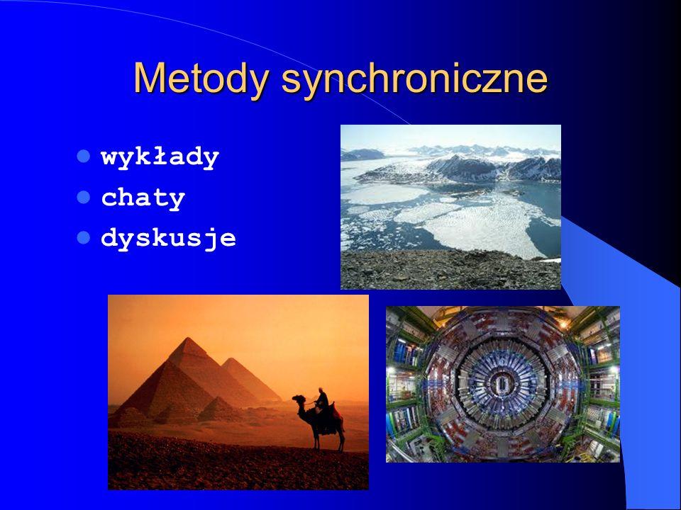 Metody synchroniczne wykłady chaty dyskusje