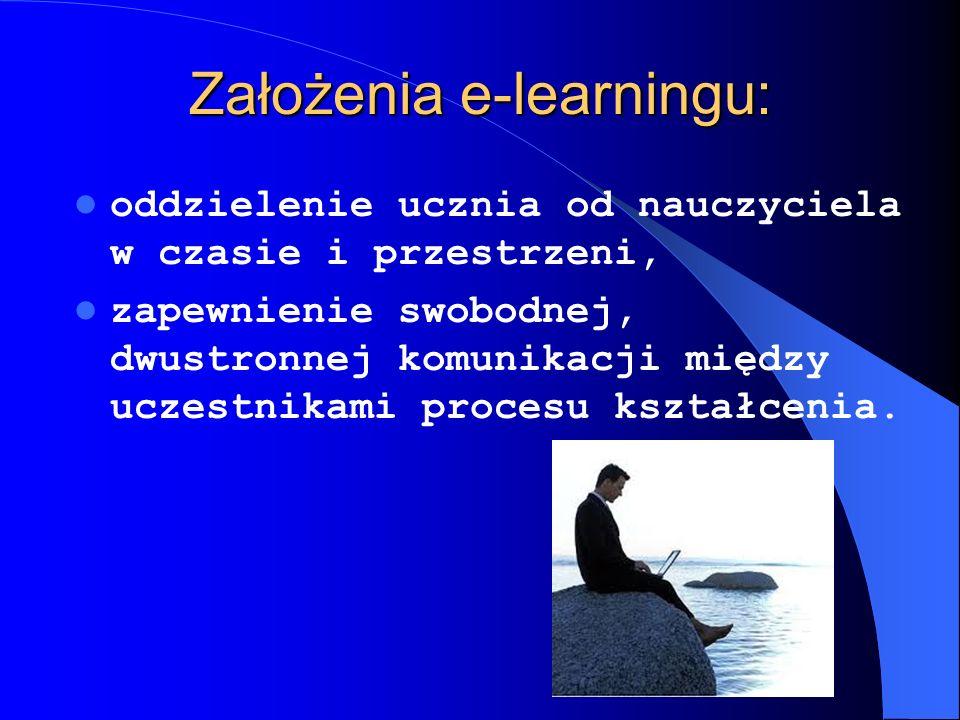 Założenia e-learningu: