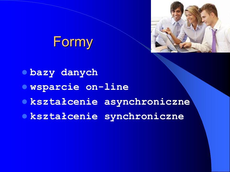 Formy bazy danych wsparcie on-line kształcenie asynchroniczne