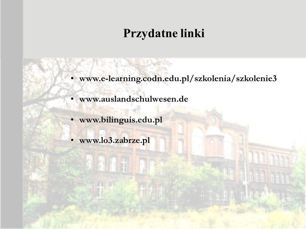 Przydatne linki www.e-learning.codn.edu.pl/szkolenia/szkolenie3