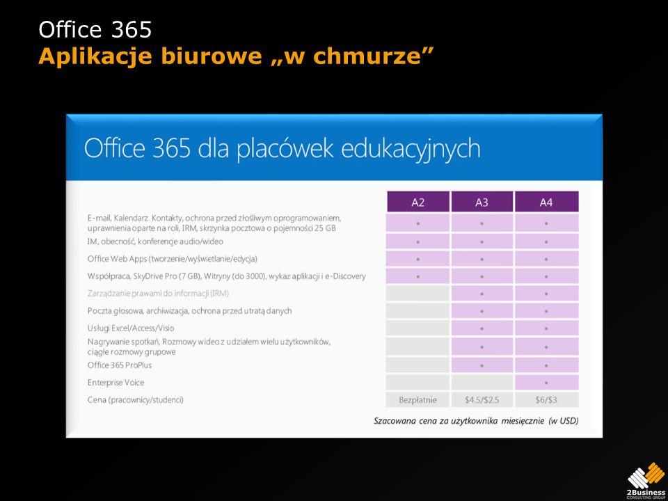 """Office 365 Aplikacje biurowe """"w chmurze"""