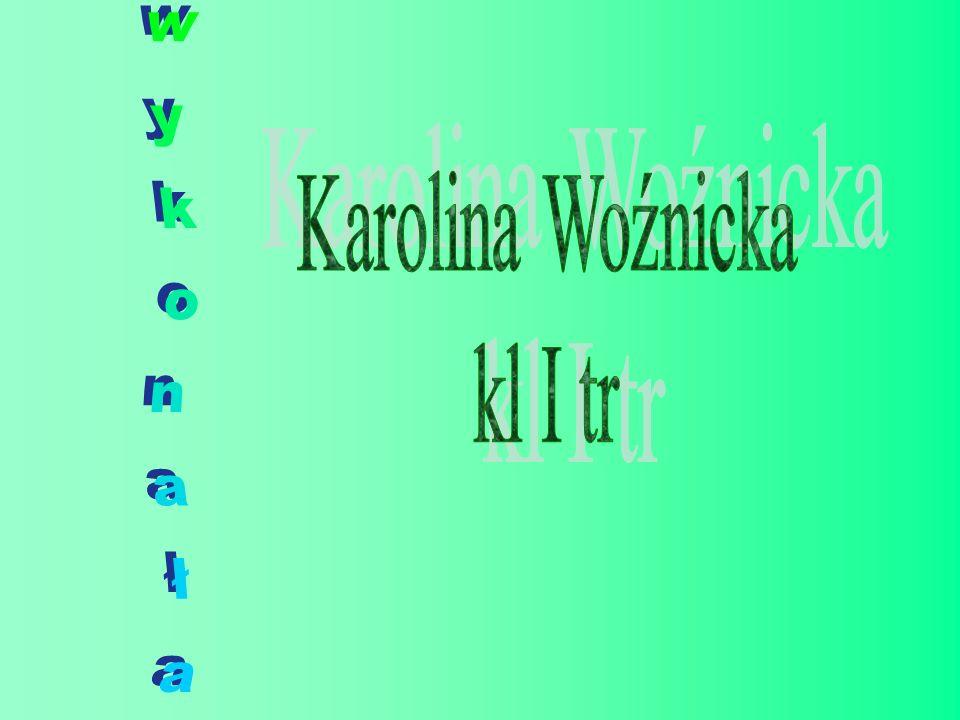 Karolina Woźnicka kl I tr wykonała