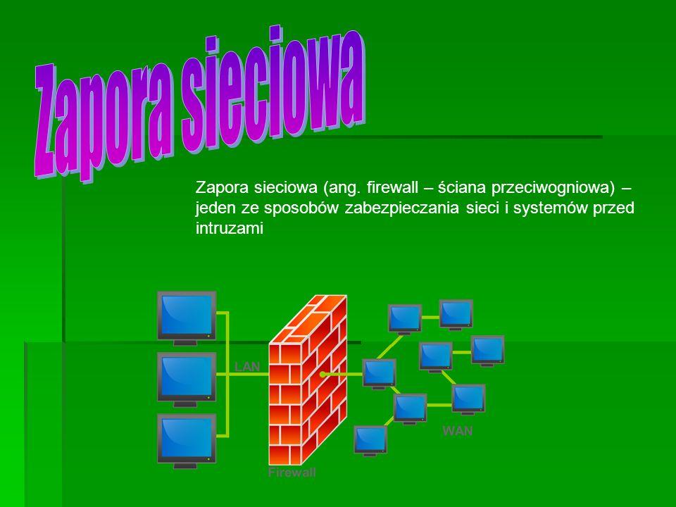 Zapora sieciowa Zapora sieciowa (ang.