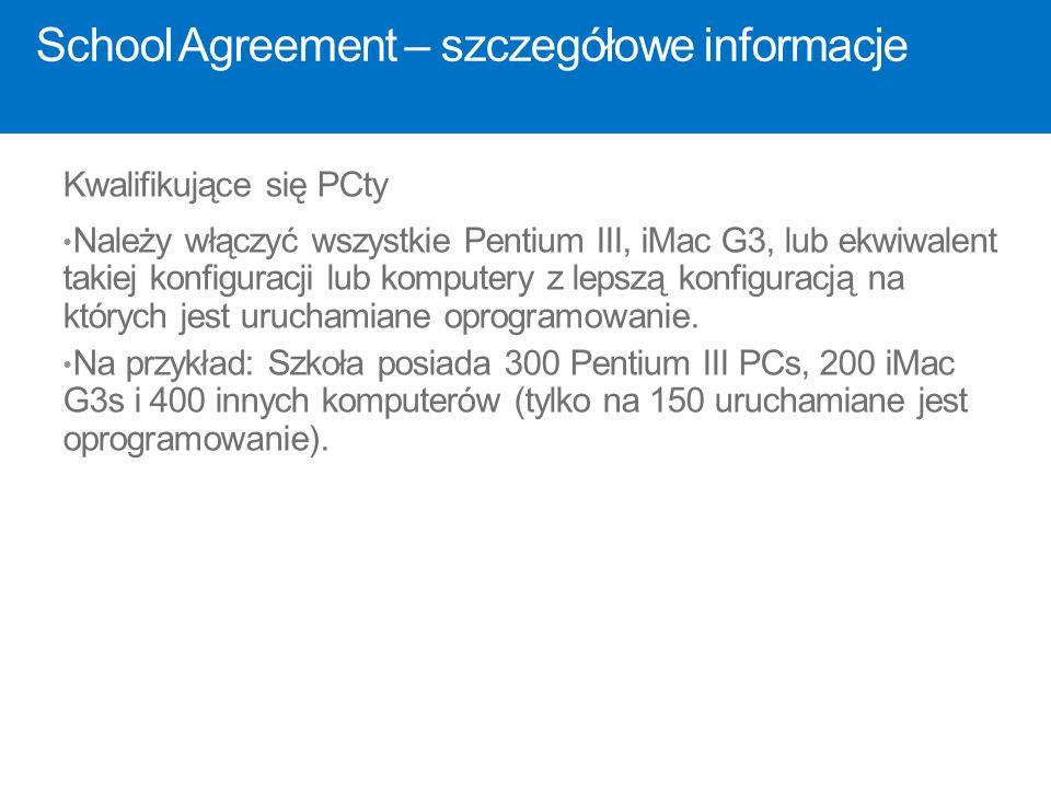 School Agreement – szczegółowe informacje