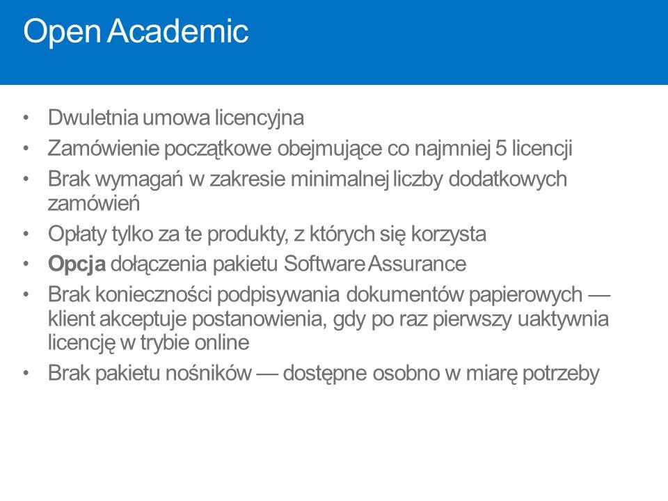 Open Academic Dwuletnia umowa licencyjna