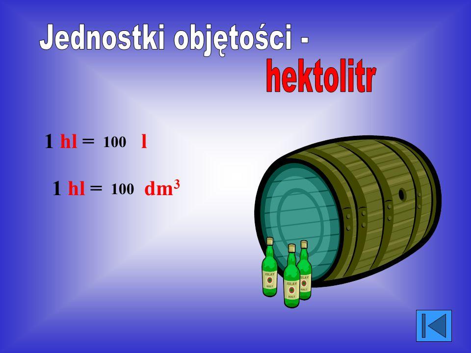 Jednostki objętości - hektolitr