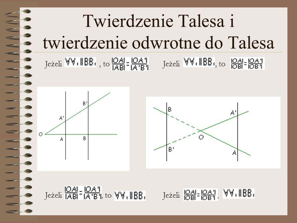 Twierdzenie Talesa i twierdzenie odwrotne do Talesa
