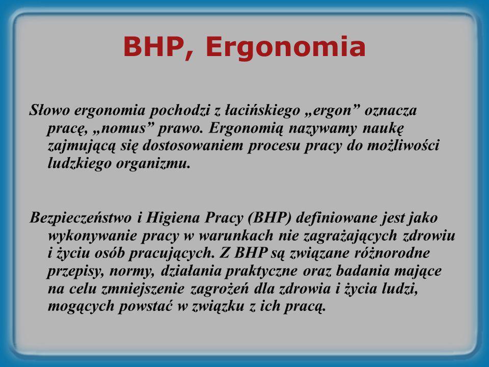 BHP, Ergonomia