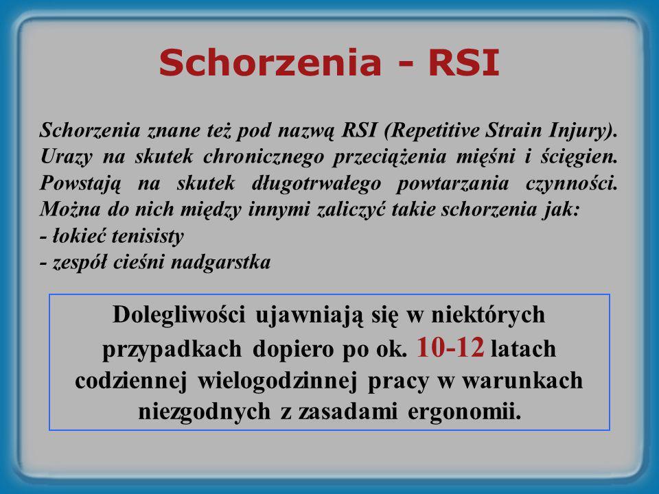 Schorzenia - RSI