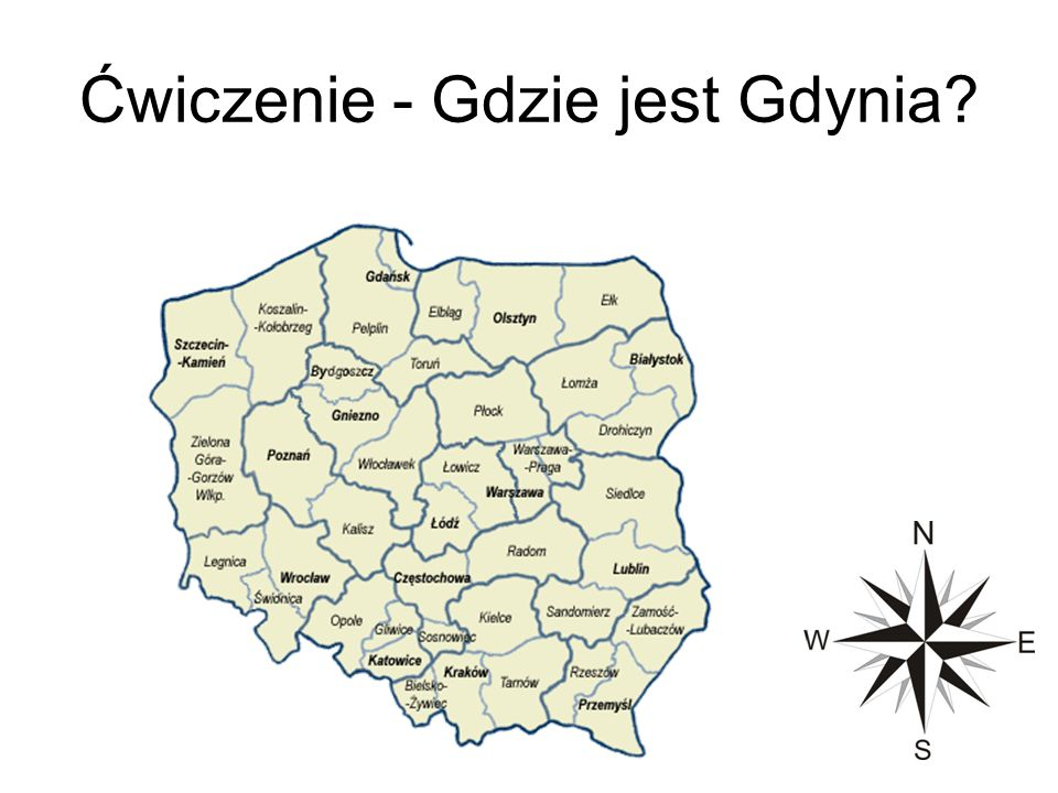 Ćwiczenie - Gdzie jest Gdynia