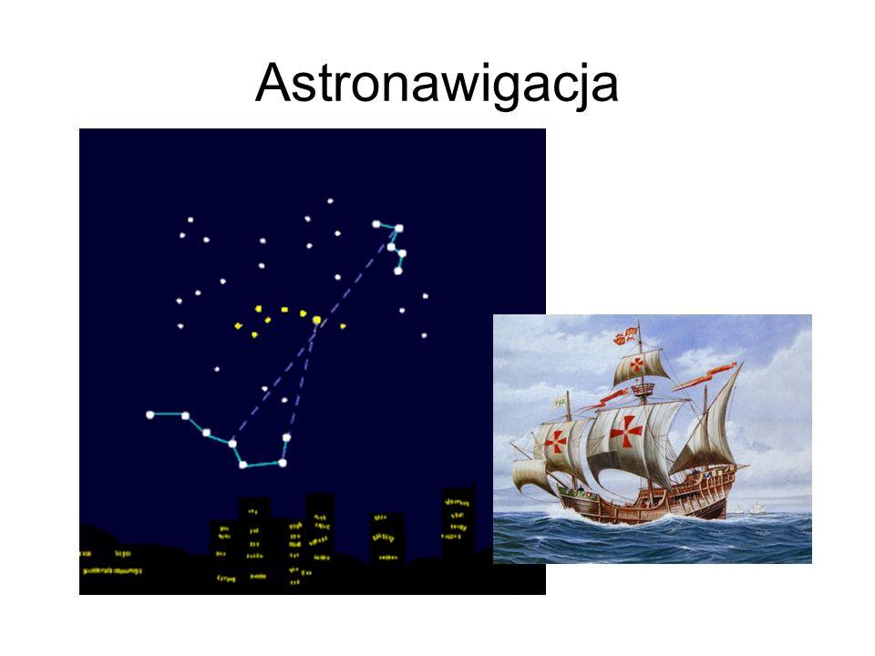 Astronawigacja Przed wynalezieniem przyrządów nawigacyjnych ludzie kierowali się obserwując niebo, w dzień słońce, w nocy gwiazdy.