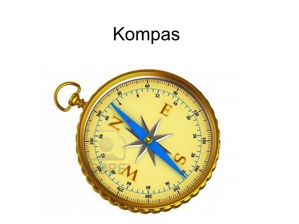 Kompas Kompas to przyrząd nawigacyjny służący do wyznaczania bieżącego kierunku południka magnetycznego.