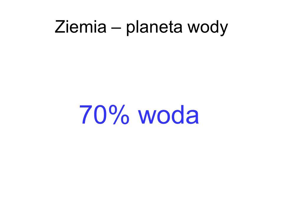 70% woda Ziemia – planeta wody