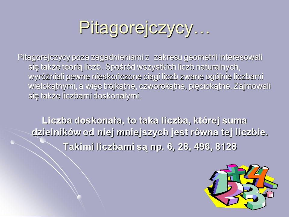 Pitagorejczycy…