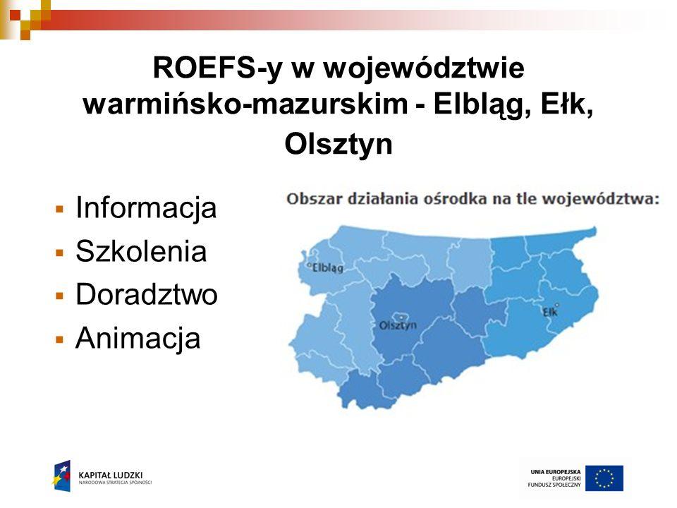 ROEFS-y w województwie warmińsko-mazurskim - Elbląg, Ełk, Olsztyn