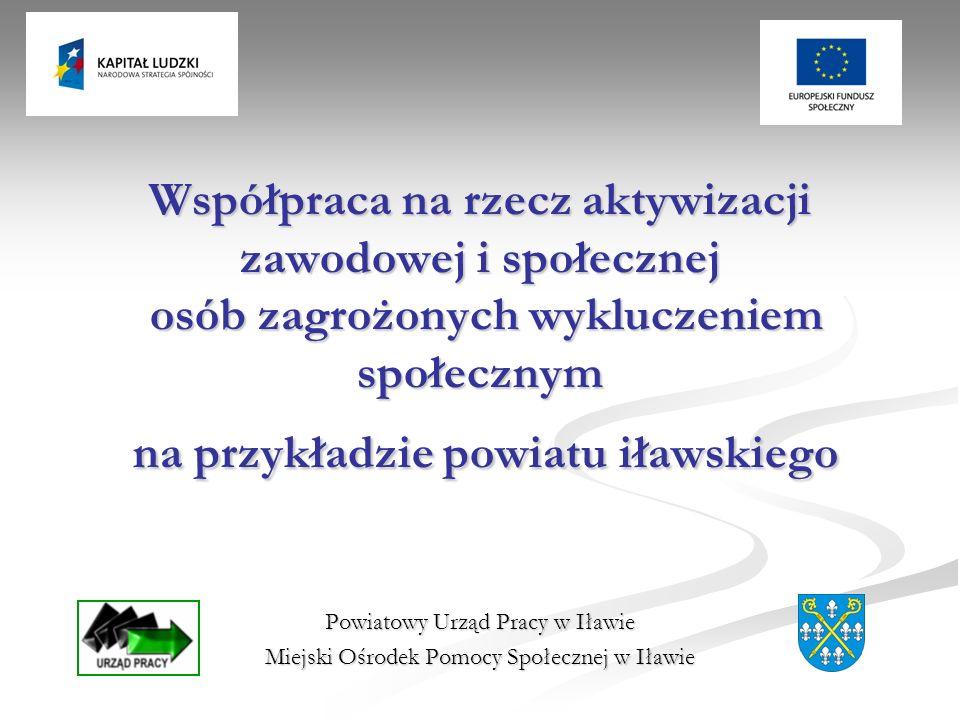 Współpraca na rzecz aktywizacji zawodowej i społecznej osób zagrożonych wykluczeniem społecznym na przykładzie powiatu iławskiego