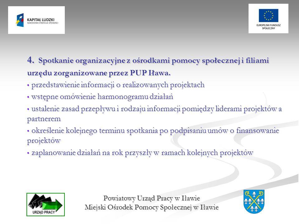 Spotkanie organizacyjne z ośrodkami pomocy społecznej i filiami urzędu zorganizowane przez PUP Iława.