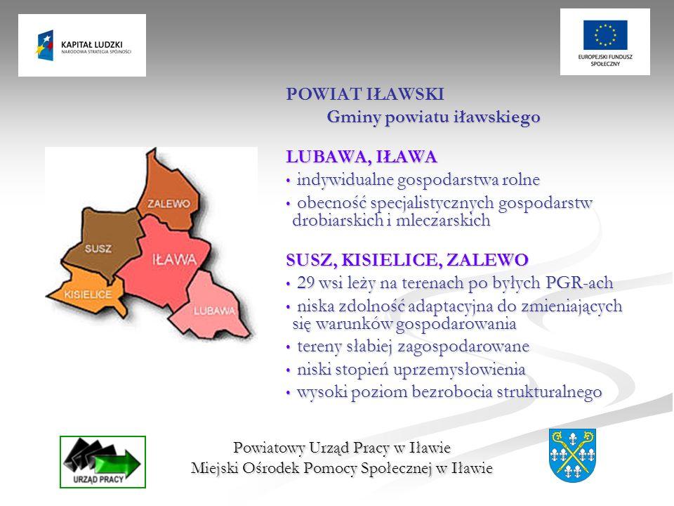 Gminy powiatu iławskiego LUBAWA, IŁAWA indywidualne gospodarstwa rolne
