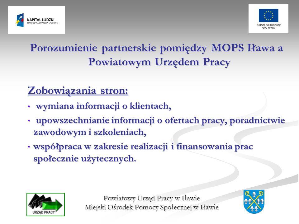 Porozumienie partnerskie pomiędzy MOPS Iława a Powiatowym Urzędem Pracy