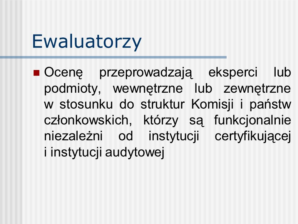Ewaluatorzy