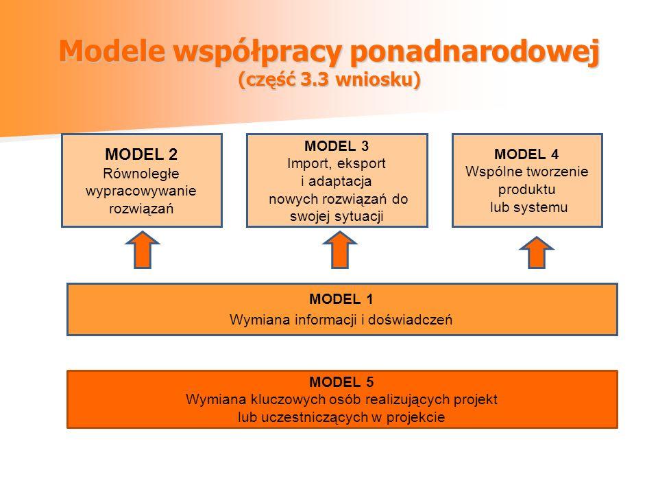 Modele współpracy ponadnarodowej (część 3.3 wniosku)